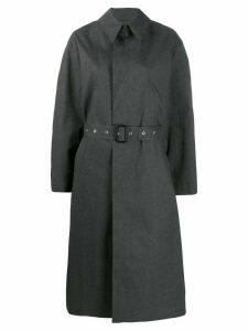Maison Margiela printed-back trench coat - Grey
