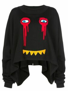 Haculla Drippy Extended sweatshirt - Black