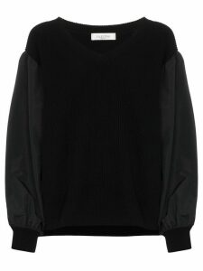 Valentino balloon-sleeve knit jumper - Black