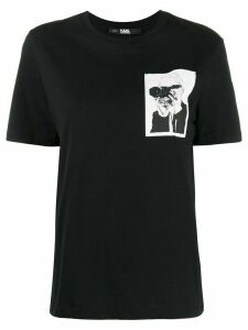 Karl Lagerfeld Karl Legend pocket T-shirt - Black