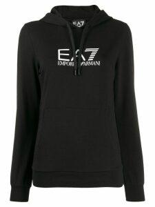 Ea7 Emporio Armani logo hoodie - Black