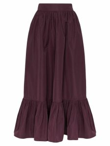 Valentino gathered maxi skirt - PURPLE