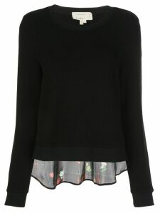 Nicole Miller floral back blouse - Black