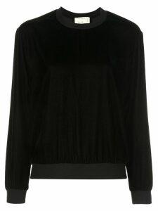 Nicole Miller contrast detail sweatshirt - Black