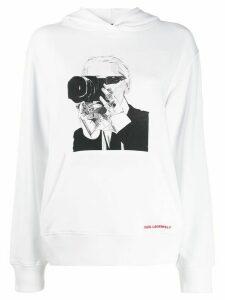 Karl Lagerfeld Karl Legend hoodie - White