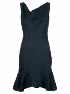 Nicole Miller pleated hem dress - Blue