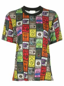 Nicole Miller all-over print T-shirt - Black