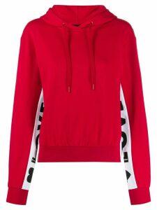 Love Moschino logo stripe hoodie - Red