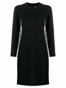 Love Moschino logo stripe jersey dress - Black