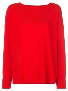 Alice+Olivia Ruela split back pullover - Red