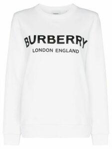 Burberry Fairhall logo print sweatshirt - White