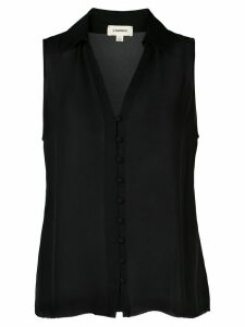 L'Agence Tanya button loop blouse - Black