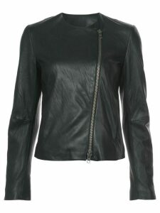 Vince round-neck zip jacket - Black