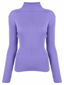 Des Prés ribbed knit jumper - PURPLE