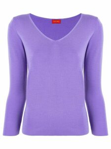 Des Prés v-neck jumper - PURPLE