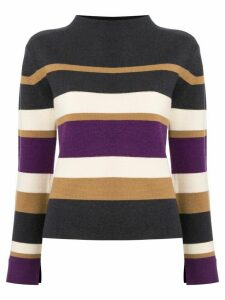 Des Prés striped slit sleeve jumper - Multicolour