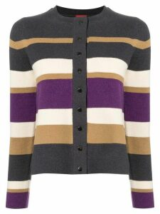 Des Prés striped button-up cardigan - Multicolour