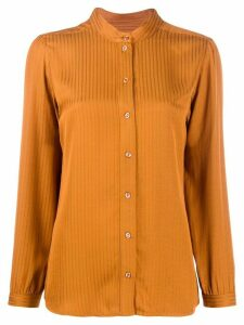 A.P.C. jacquard stripe shirt - ORANGE
