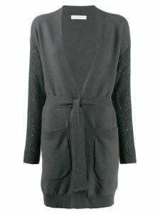 Fabiana Filippi tie waist cardigan - Grey