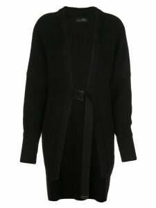 Y's buckle strap cardigan - Black