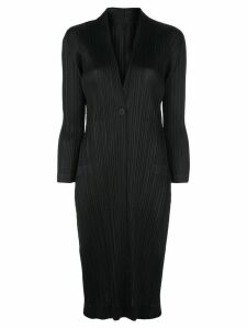 Pleats Please Issey Miyake lightweight pleated jacket - Black