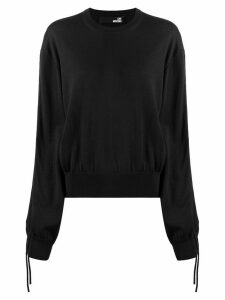 Love Moschino drawstring sleeve jumper - Black
