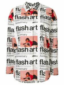 MSGM Flash Art print shirt - White