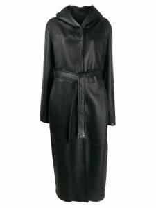 Liska panelled belted coat - Black