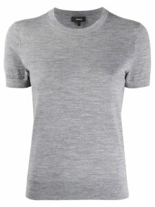 Theory short sleeve knitted top - Grey