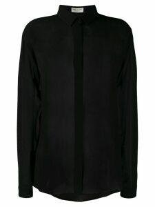 Saint Laurent silk sheer shirt - Black