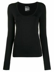 Helmut Lang scoop neck long sleeve top - Black