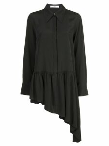 Tibi asymmetrical ruffle blouse - Black