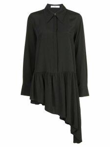 Tibi asymmetrical ruffle blouse - Black