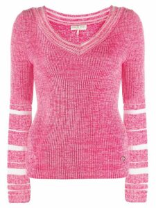 Emilio Pucci sheer detail knit jumper - Pink