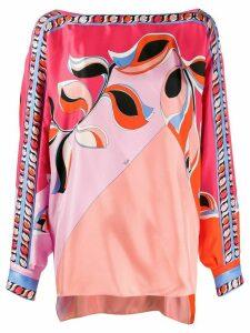 Emilio Pucci printed kaftan blouse - PINK