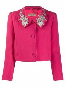 Emilio Pucci embellished collar cropped jacket - PINK
