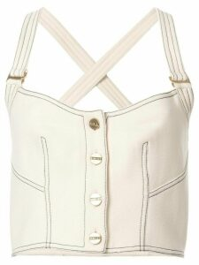 Dion Lee rivet bustier top - White