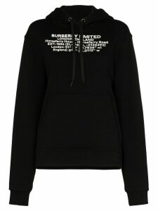 Burberry Poulter Location logo-print cotton hoodie - Black