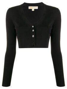 Michael Michael Kors cropped V-neck cardigan - Black