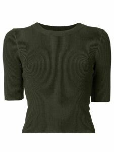 Dion Lee ribbed cropped top - Green