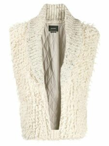 Isabel Marant Layden sleeveless cardigan - NEUTRALS