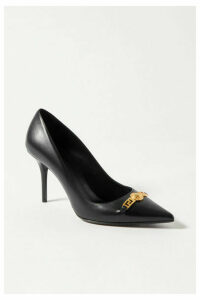 Versace - Embellished Leather Pumps - Black