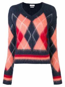 Ballantyne diamond knit sweater - Blue