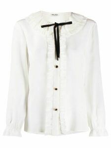 Miu Miu ruffled-neck blouse - White
