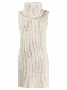 Fabiana Filippi knitted high low vest - NEUTRALS