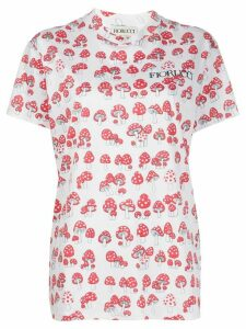 Fiorucci oversized mushrooms-print T-shirt - White