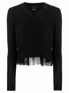 Pinko fringed Berice cardigan - Black