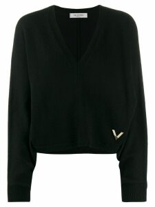 Valentino VGOLD knitted jumper - 598 NAVY