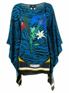 Cavalli Class draped sleeve blouse - Blue