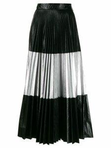 Christopher Kane laminated pleated skirt - Black